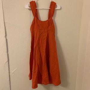 French Connection Orange Flowy Dress Size 6